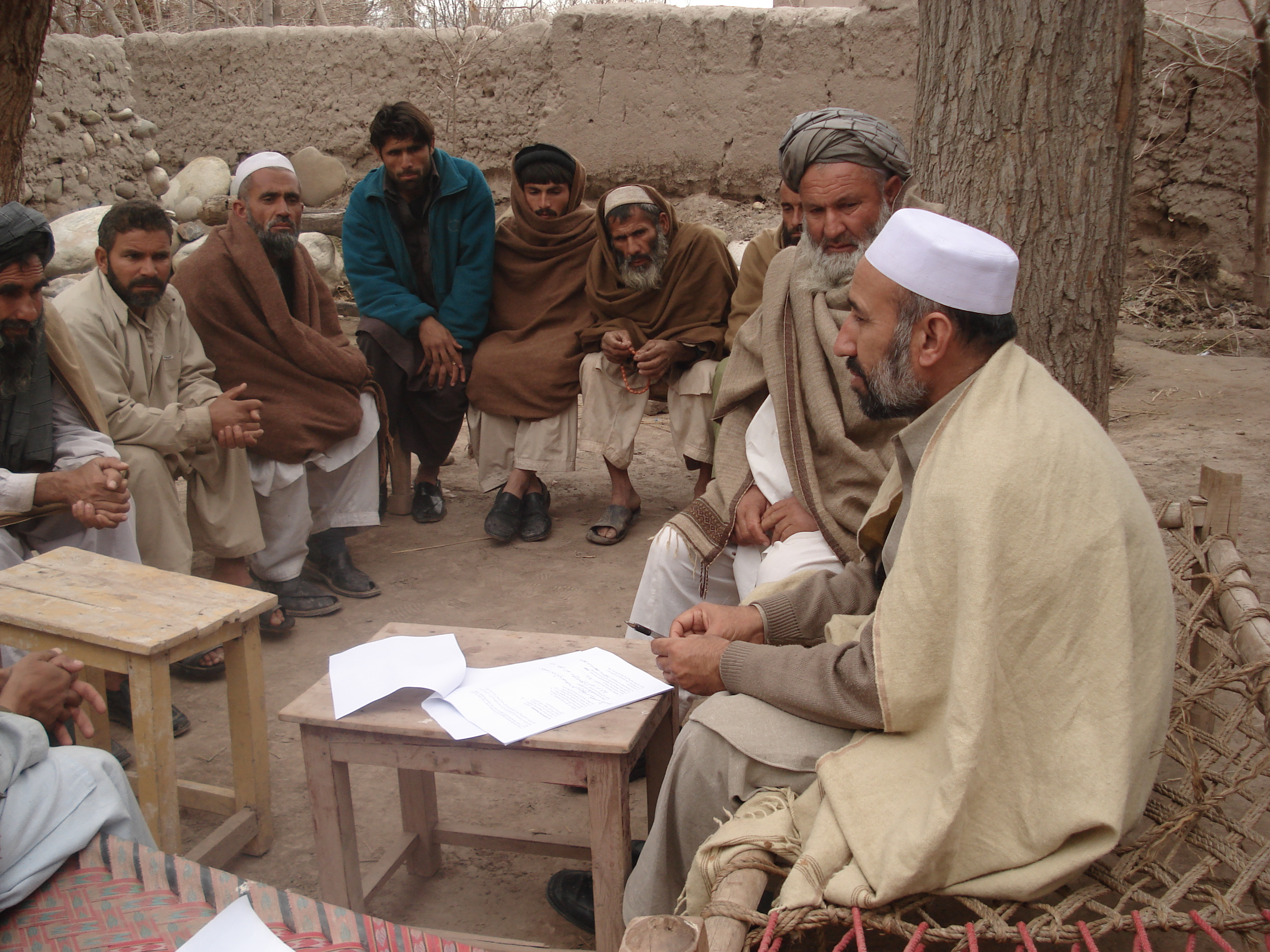 A view of group interview with Bala Bagh CDC members